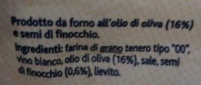 Taralli tondi olio oliva - Ingrédients - fr