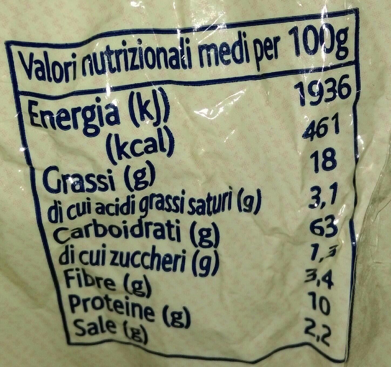 Taralli tondi olio oliva - Informations nutritionnelles - fr