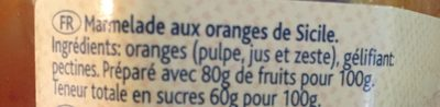 Marmelade aux oranges de Sicile - Ingredients - fr