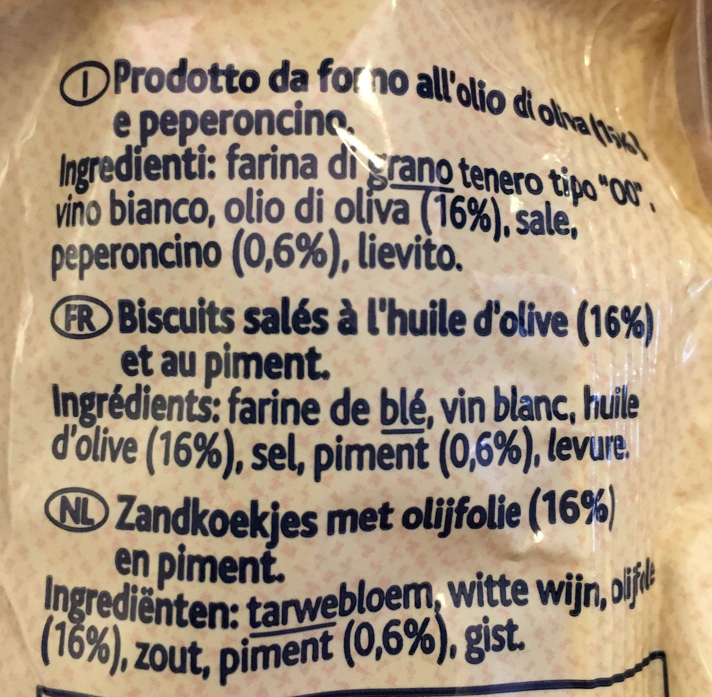 Taralli Lunghi Di Barletta - Ingrediënten - fr