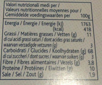 Grissini Stirati - Nutrition facts - fr