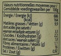 Ragù Toscano di carne Chianina - Informations nutritionnelles