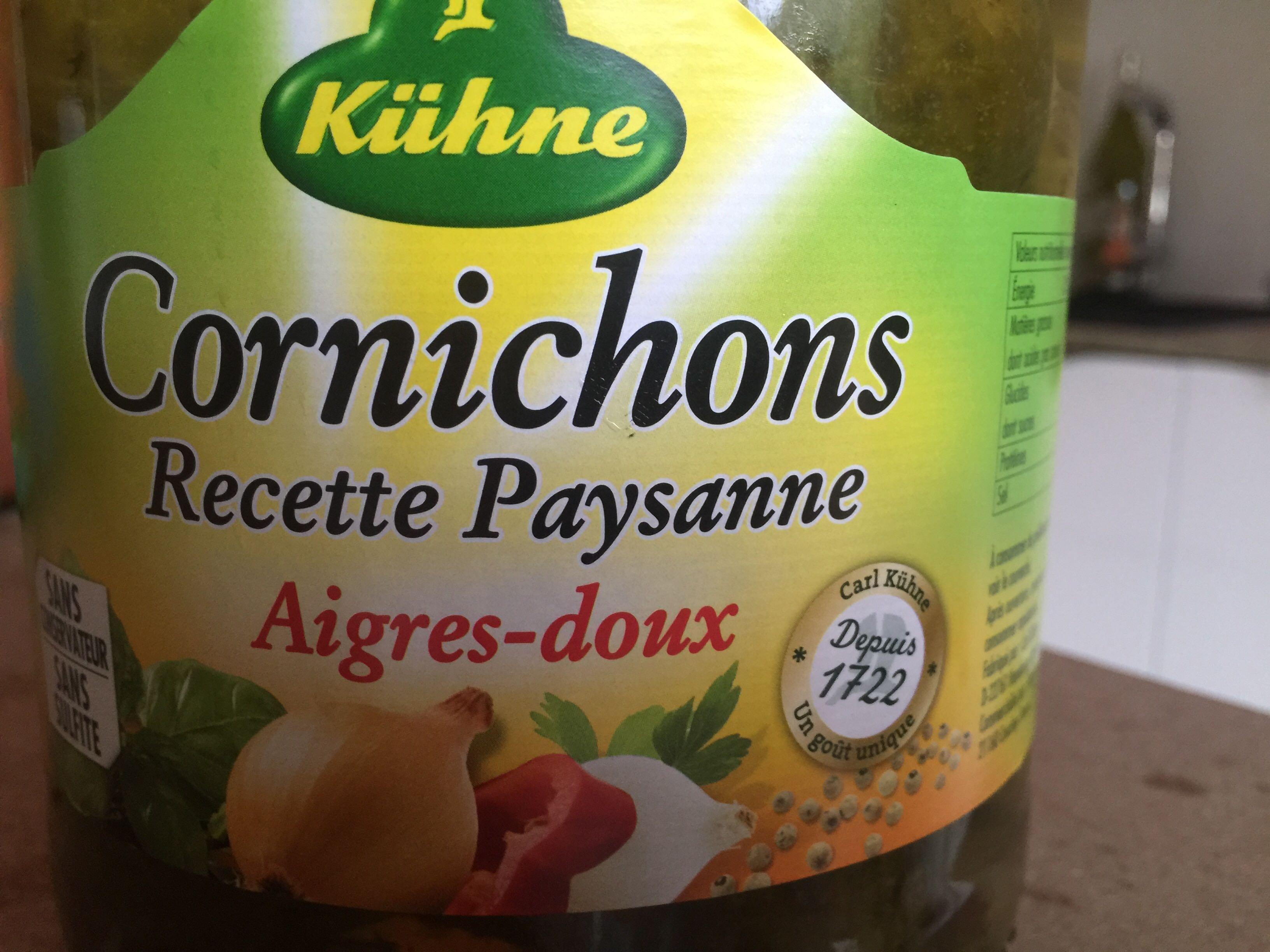 Cornichons Recette Paysanne Aigres-doux - Product - fr