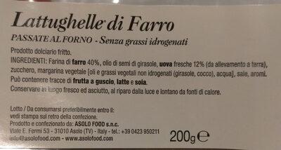 Lattughelle di Farro - Ingrédients - it