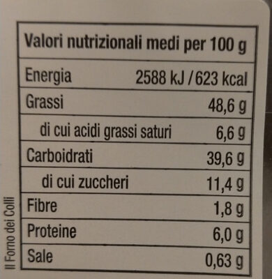 Lattughelle di Farro - Informations nutritionnelles - it
