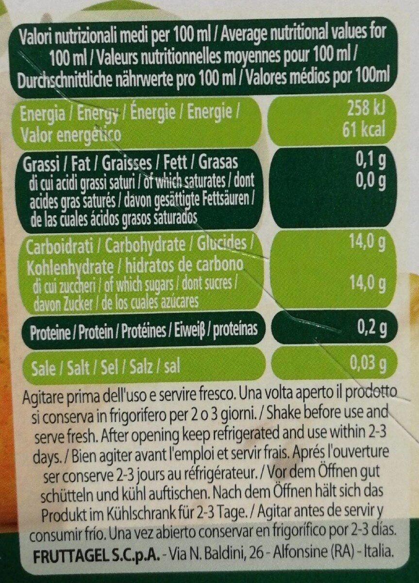 Nettare pera - Valori nutrizionali - it