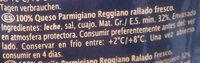 Parmigiano Reggiano - Ingrediënten - es