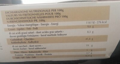 DOLCE MAMA TIRAMISU - Informations nutritionnelles - fr