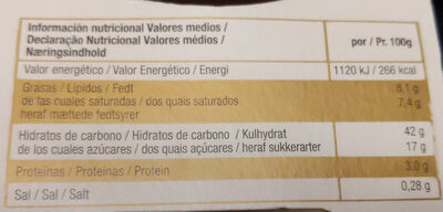 TIRAMISÙ - Voedingswaarden - es