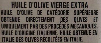 Huile d'olive Vierge Extra - Ingrediënten
