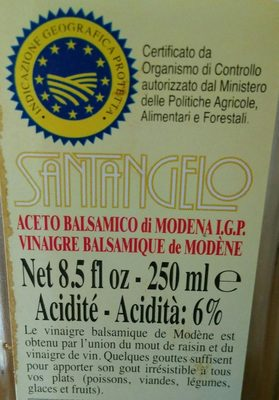 Vinaigre Balsamique de Modène (acidité 6%) - Ingrediënten