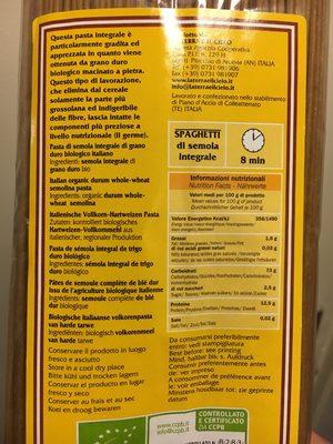 Spaghetti Integrali - Ingrediënten - fr