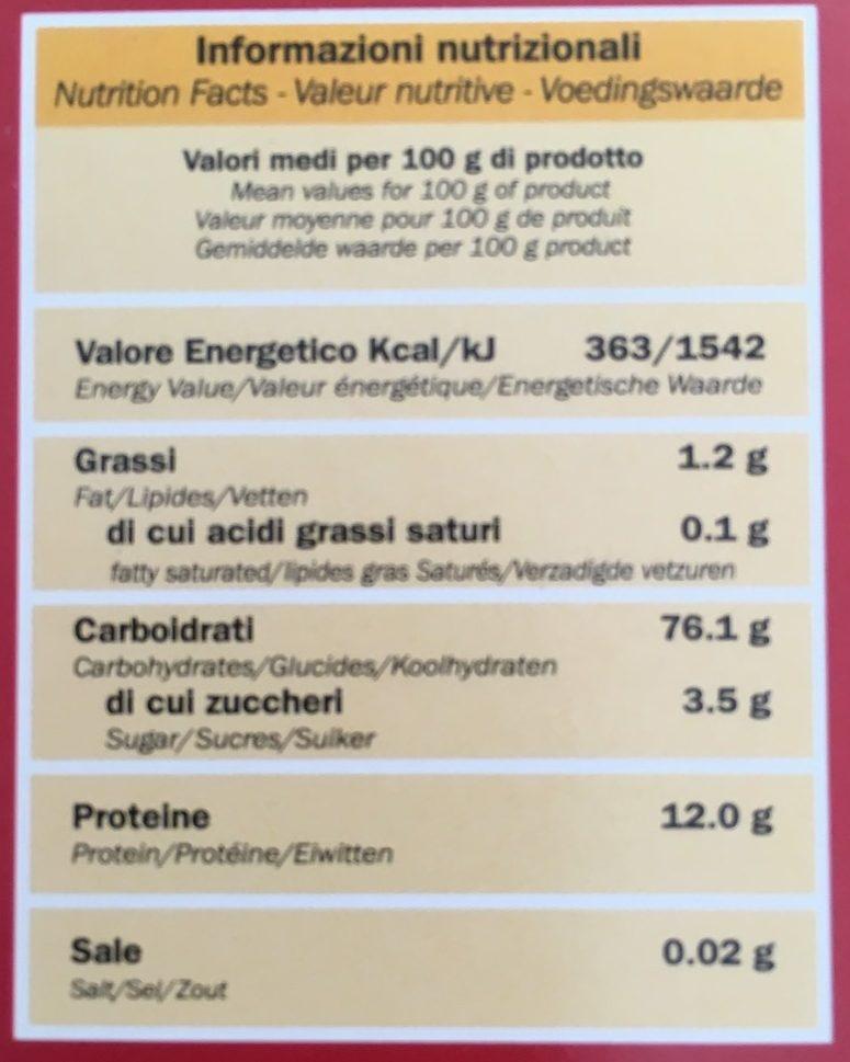 Lasagne - Voedingswaarden - it