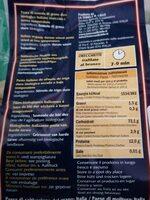 Baule Volante Orecchiette 500 G - Voedingswaarden - fr