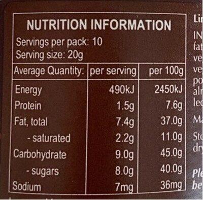 Dark cocoa spread - Nutrition facts - en