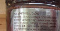 Pate a tartiner cacao - Ingrediënten - fr