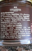 Crème noisette - Nutrition facts