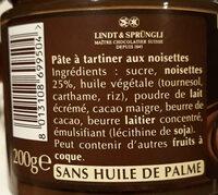 Pate à tartiner 25% de noisettes - Ingredients - fr