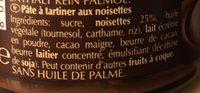 Crème noisette - Ingredienti - fr