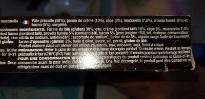 La pinsa Romana - Ingrédients - fr