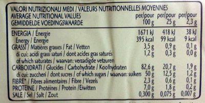 Pavesini - Nutrition facts