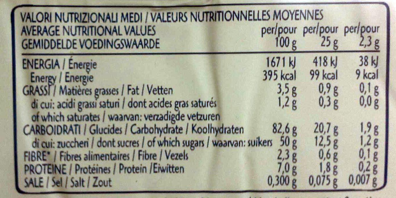 Pavesini gli originali - Nutrition facts - en