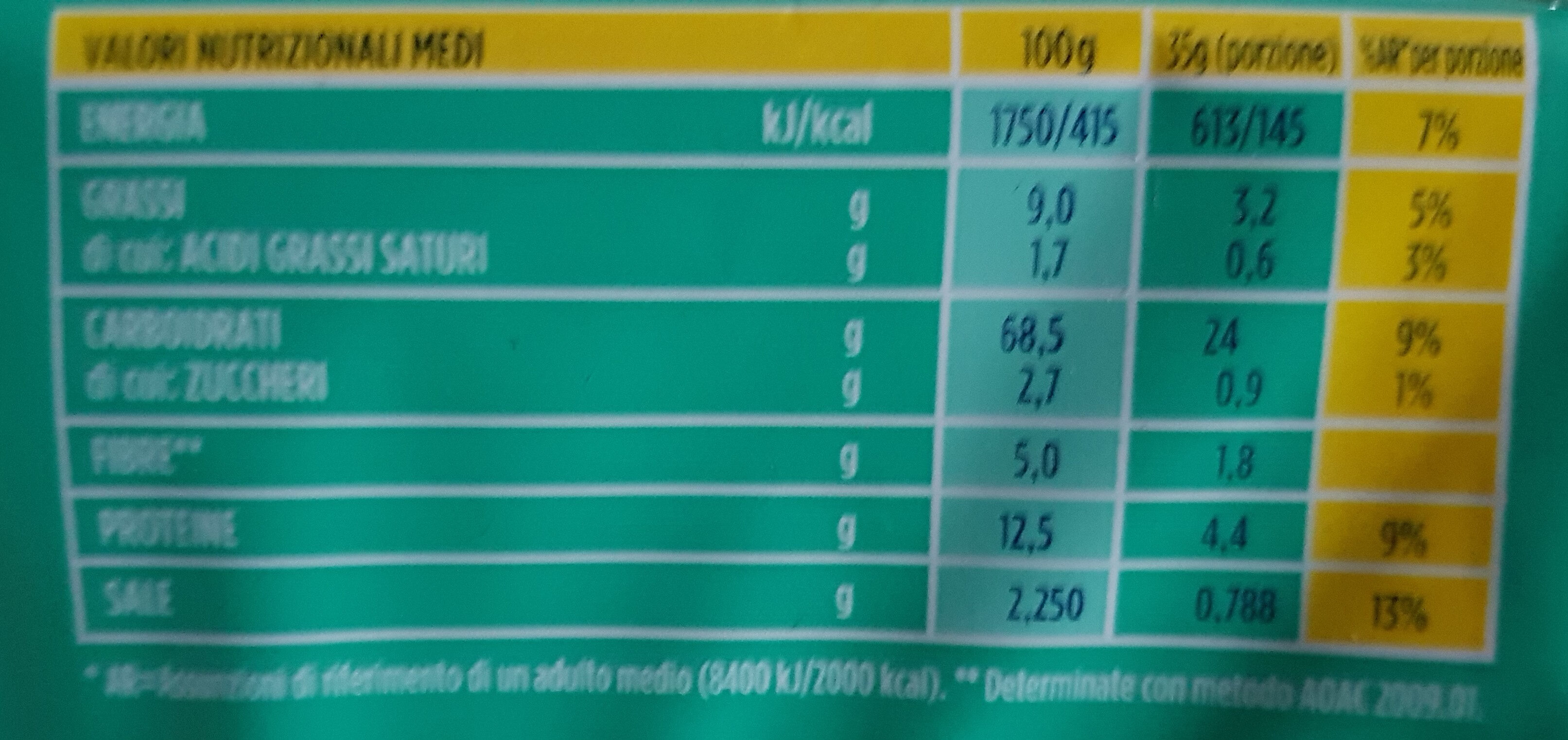 Gran Pavesi Crackers Rosmary 280G - Nutrition facts - fr