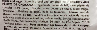 Gocciole chocolat - Ingrédients