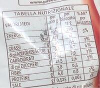 Gocciole chocolate Pavesi - Nutrition facts - it