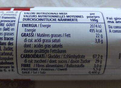 Ringo Vaniglia - Informations nutritionnelles - fr