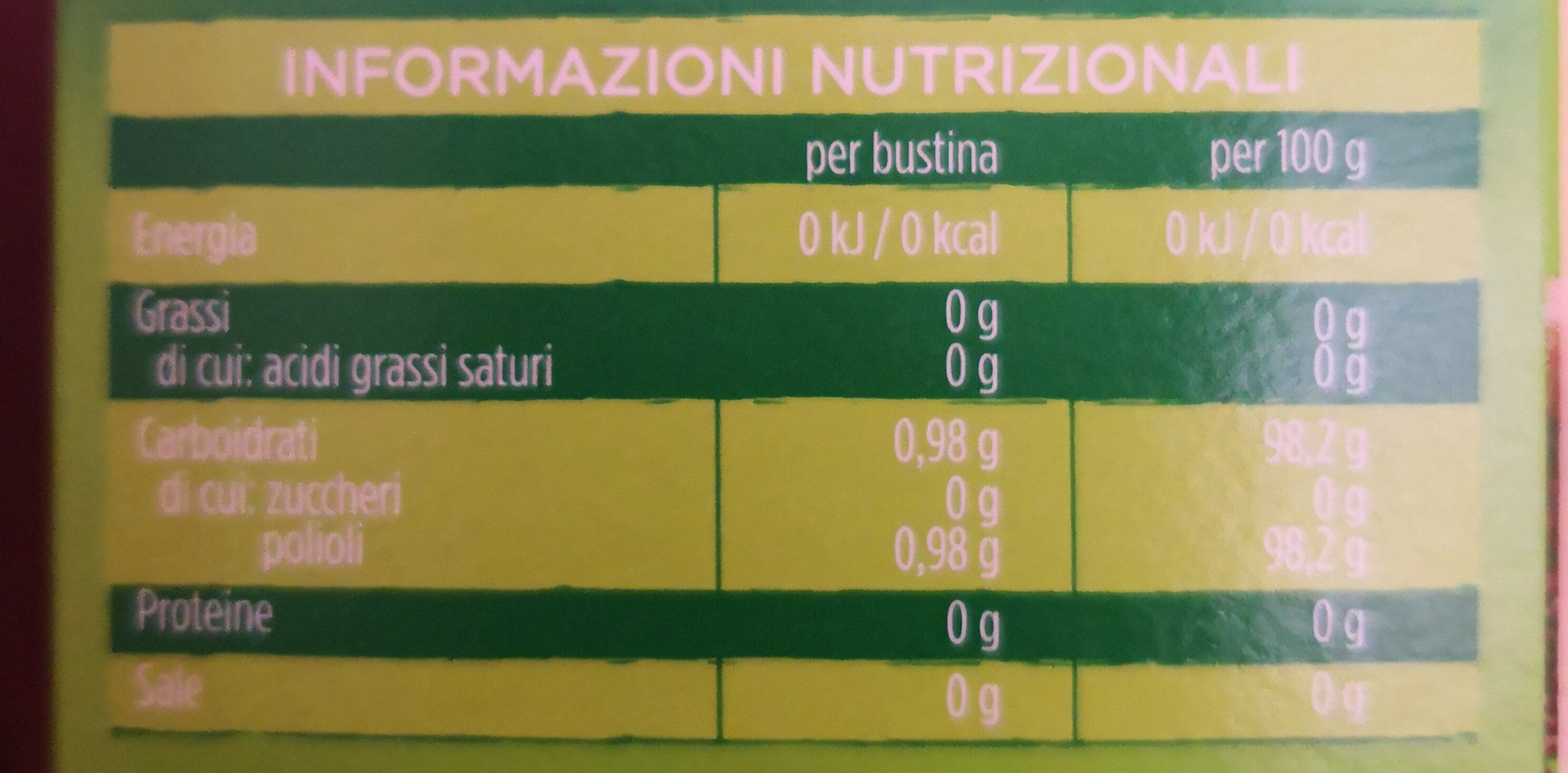 my dietor cuor di stevia - Nutrition facts - it