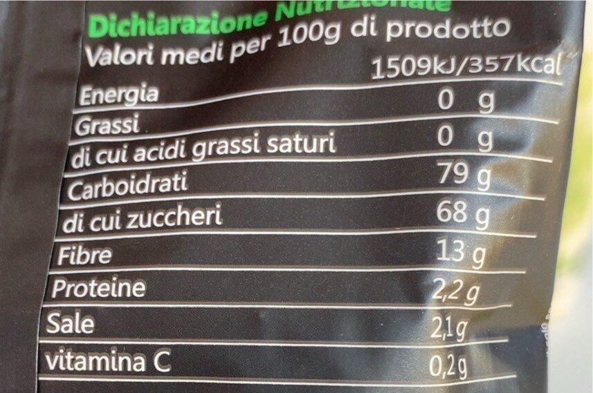 Fruit e Veg - Valori nutrizionali - it