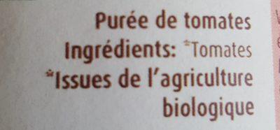 Purée de tomates - Ingrédients - fr
