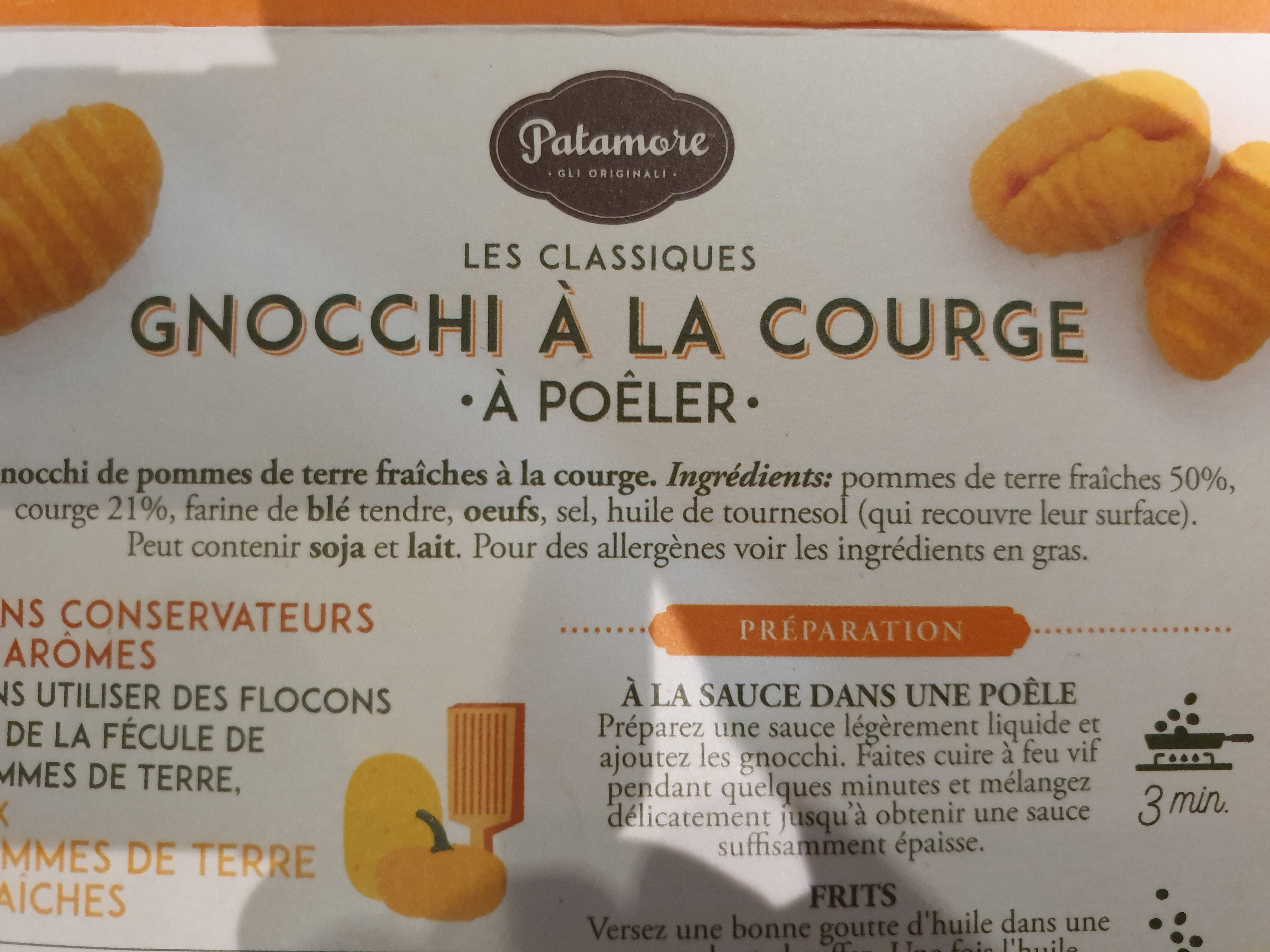 Gnocchi rigati a la courge - Ingredienti - fr