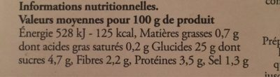 Gnocchi rigati a la courge - Voedingswaarden