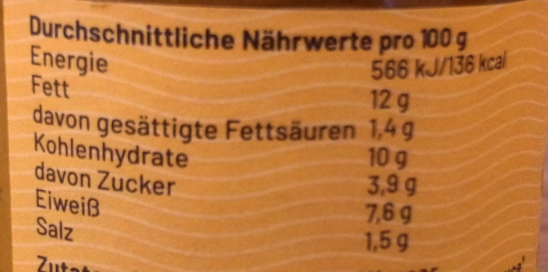 Powerlinse Protein Aufstrich - Nutrition facts - de