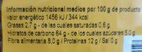 Pâtes complètes - Nutrition facts - fr