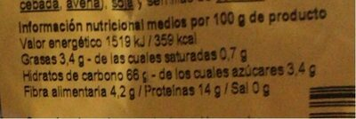 Especialidad culinaria integral de trigo sarraceno - Voedingswaarden - fr