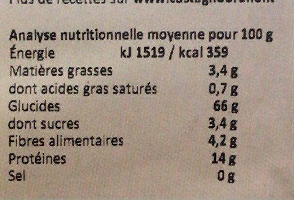 Penne de sarrasin complet - Informations nutritionnelles - fr
