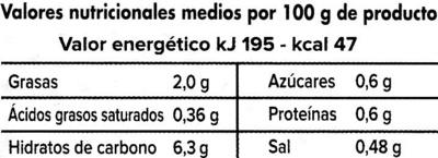 Crema de espárragos - Información nutricional - es