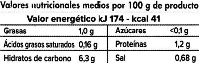 Vichyssoise Puerro y Patata - Información nutricional
