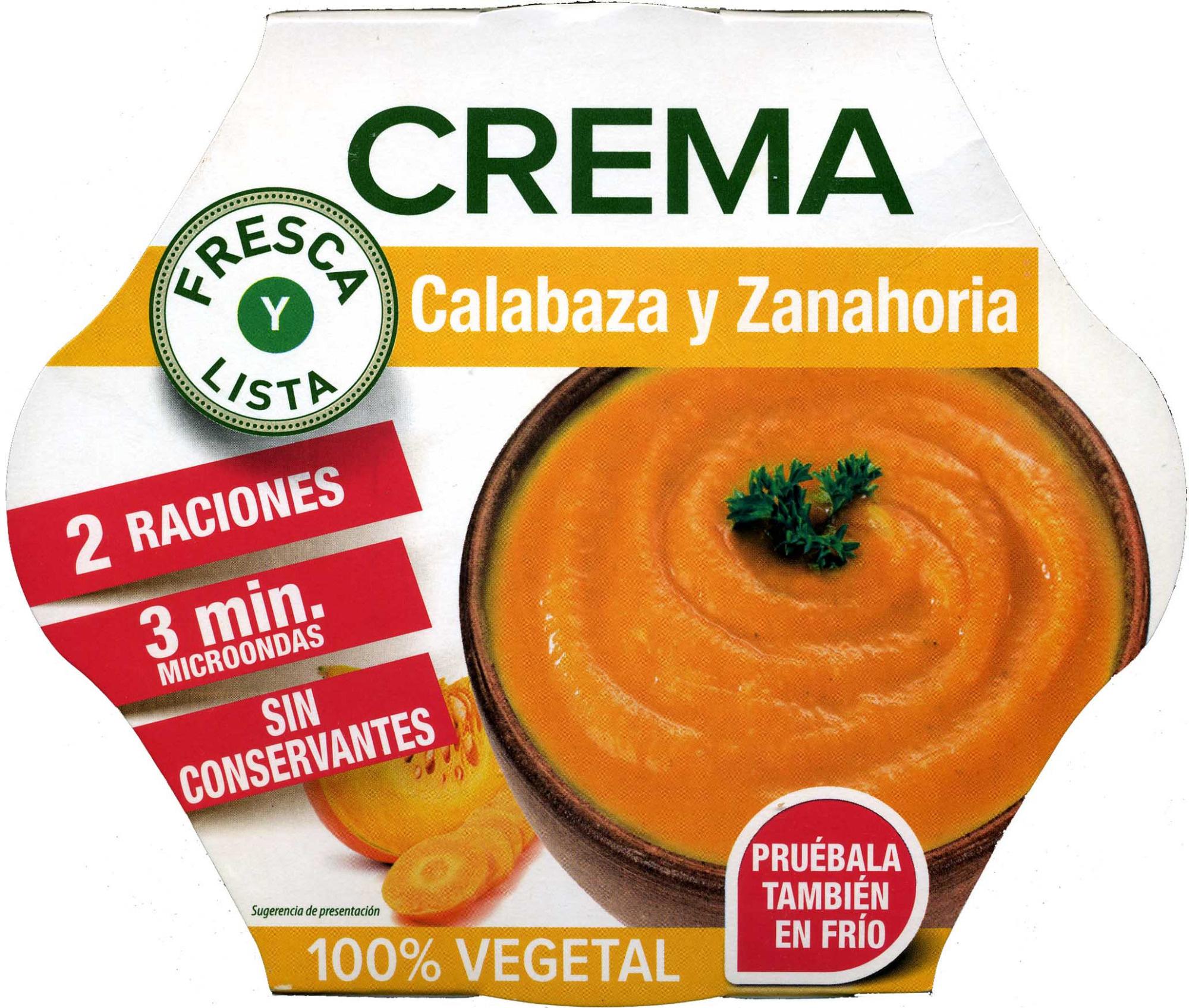 Crema De Calabaza Y Zanahoria - Producto - es
