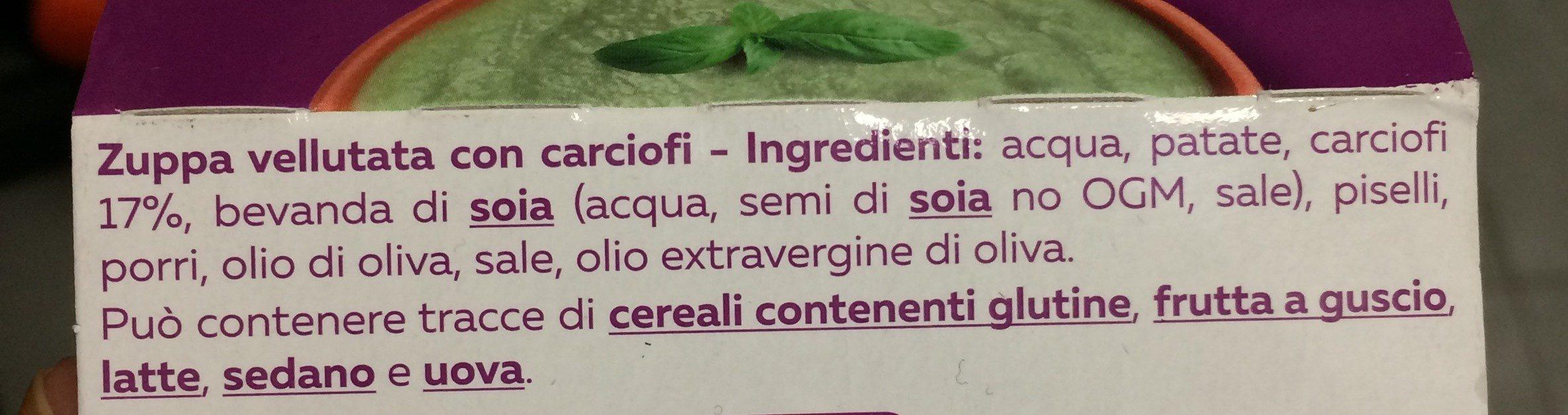 Vellutata di carciofi - Ingrédients