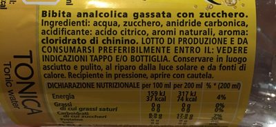 Schweps tonic - Ingredienti - fr