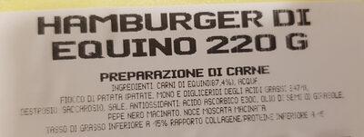 Sapore salute hamburge di equino - Ingrediënten - it