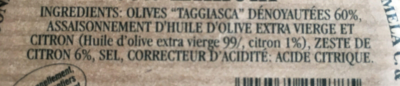 "Battuto di olive ""taggiasca"" con limoni - Ingrediënten"
