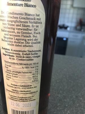 Condiments Balsamico - Ingredients