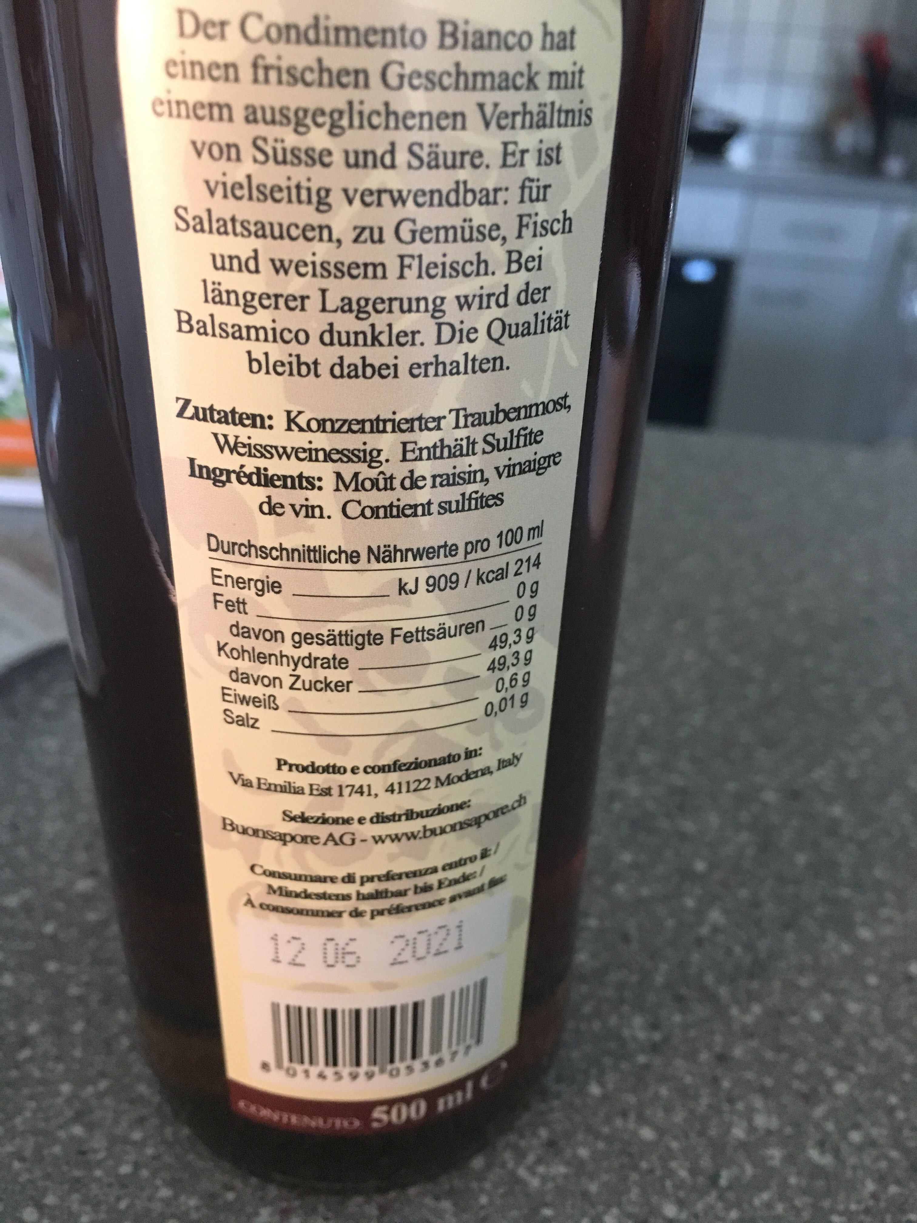 Condiments Balsamico - Nutrition facts