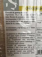 Gnocchi de pomme de terre - Ingredients