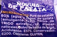 Gnocchi - Ingredients - es